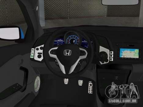 Honda CR-Z 2010 para GTA Vice City vista traseira esquerda