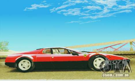 Ferrari 512 BB para GTA San Andreas vista interior