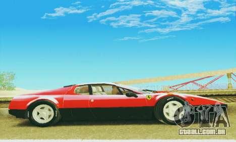 Ferrari 512 BB para GTA San Andreas vista interior