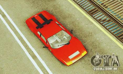 Ferrari 512 BB para vista lateral GTA San Andreas