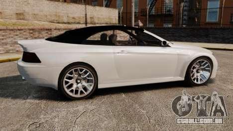 GTA V Zion XS Cabrio [Update] para GTA 4 esquerda vista