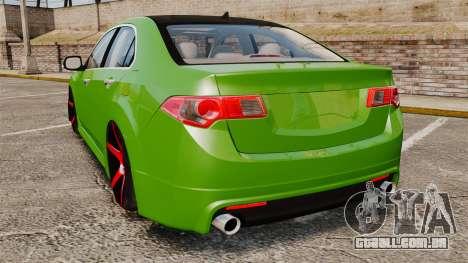 Acura TSX Mugen 2010 para GTA 4 traseira esquerda vista