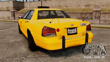 GTA V Gen Vapid LCC Taxi para GTA 4 traseira esquerda vista
