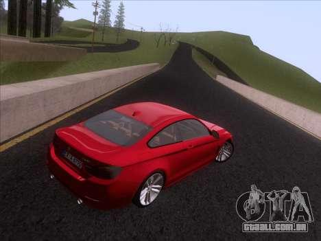 BMW F32 4 series Coupe 2014 para GTA San Andreas vista traseira