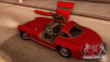 Mercedes-Benz 300SL Gullwing para vista lateral GTA San Andreas