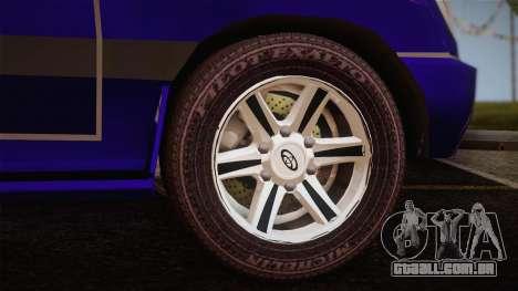 Toyota Land Cruiser 100VX para GTA San Andreas traseira esquerda vista
