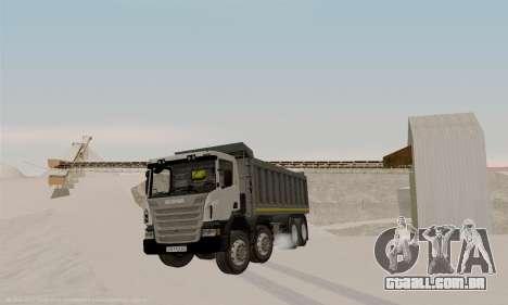 Scania P420 para GTA San Andreas traseira esquerda vista