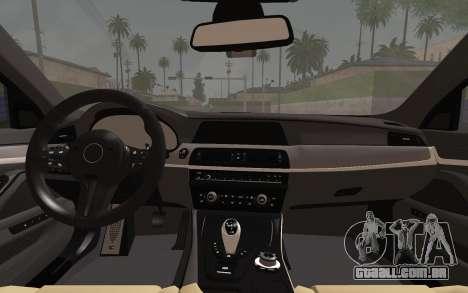 BMW M5 F10 v2 para GTA San Andreas vista direita