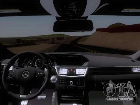 Mercedes-Benz E63 AMG 2011 Special Edition para GTA San Andreas vista superior