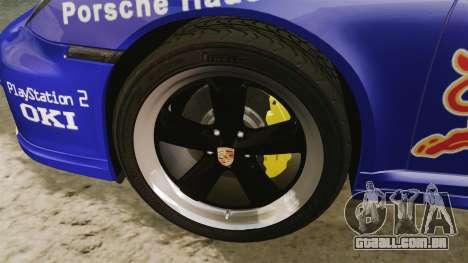 Porsche 911 Sport Classic 2010 Red Bull para GTA 4 vista de volta