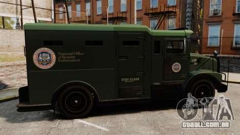 Military Enforcer para GTA 4 esquerda vista