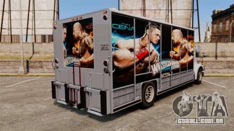 Estrelas do wrestling Benson para GTA 4 vista de volta