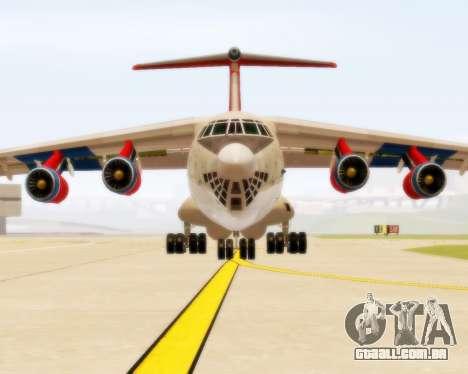 Il-76td Samara para GTA San Andreas esquerda vista