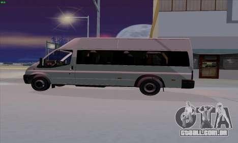 Ford Transit Jumgo para GTA San Andreas esquerda vista