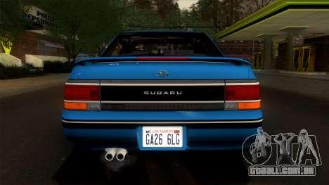 Subaru Legacy 2.0 RS (BC) 1989 para GTA San Andreas vista interior