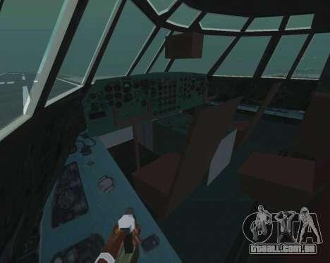 Il-76td v 1.0 para GTA San Andreas vista interior