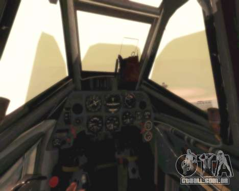 Bf-109 G6 para GTA San Andreas vista interior