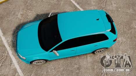 Audi RS3 Sportback [Typ 8PA] 2011 para GTA 4 vista direita