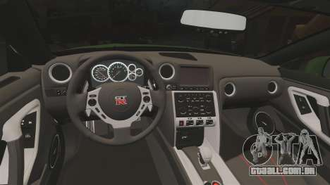 Nissan GT-R SpecV 2010 para GTA 4 vista interior
