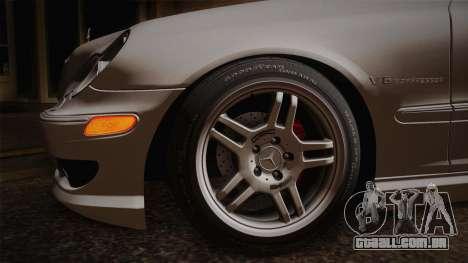 Mercedes-Benz C32 AMG 2004 para GTA San Andreas vista traseira