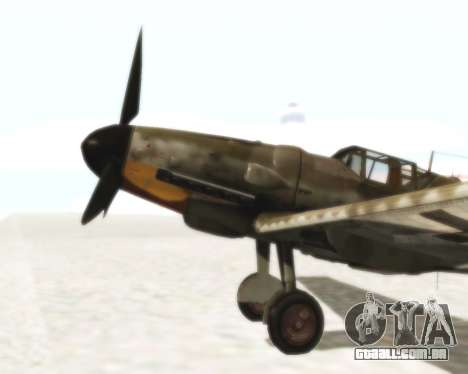 Bf-109 G6 para GTA San Andreas vista direita