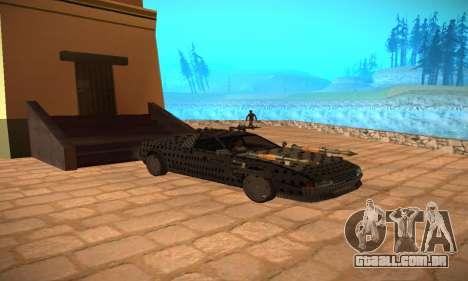 Cheetah Zomby Apocalypse para GTA San Andreas vista traseira