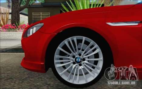 BMW 6 Gran Coupe v1.0 para GTA San Andreas traseira esquerda vista