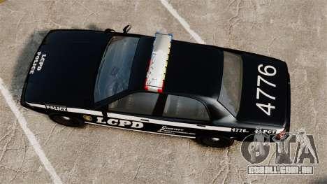 GTA V Vapid Police Cruiser [ELS] para GTA 4 vista direita