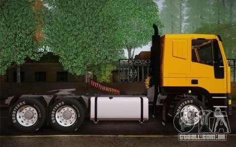 Iveco EuroTech 6x4 Doors para GTA San Andreas traseira esquerda vista