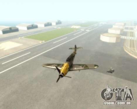 Bf-109 G6 v1.0 para GTA San Andreas vista traseira