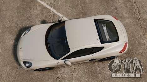 Porsche Cayman S 981C para GTA 4 vista direita