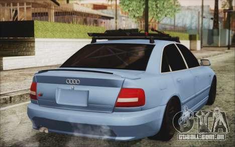 Audi S4 Hellaflush para GTA San Andreas esquerda vista