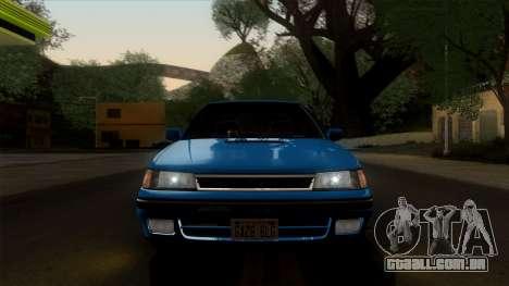 Subaru Legacy 2.0 RS (BC) 1989 para GTA San Andreas vista traseira