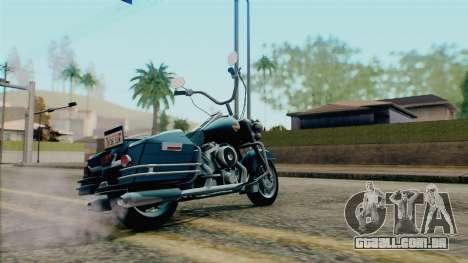 Harley Davidson Road King para GTA San Andreas esquerda vista