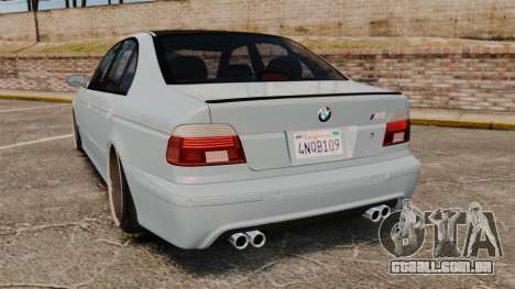 BMW M5 E39 2003 para GTA 4 traseira esquerda vista