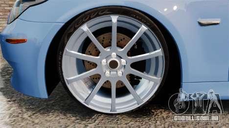 BMW M5 2009 para GTA 4 vista de volta