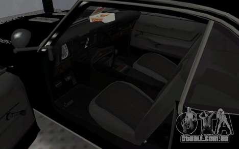 Chevrolet Camaro SS Police para GTA San Andreas vista traseira