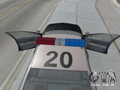 Chevrolet Caprice LAPD 1991 [V2] para GTA San Andreas vista direita