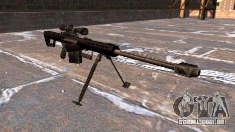 Rifle de sniper Barrett M82A1 luz cinqüenta para GTA 4