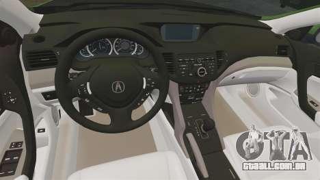 Acura TSX Mugen 2010 para GTA 4 vista interior