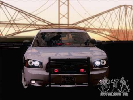 Dodge Charger San Andreas State Trooper para GTA San Andreas vista interior