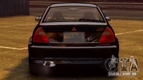 Mitsubishi Lancer Evolution VI GSR 1999 para GTA 4 vista direita