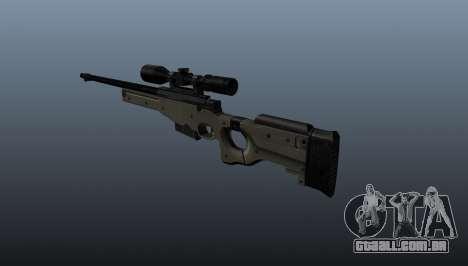 Rifle de sniper AI Arctic Warfare polícia para GTA 4 segundo screenshot