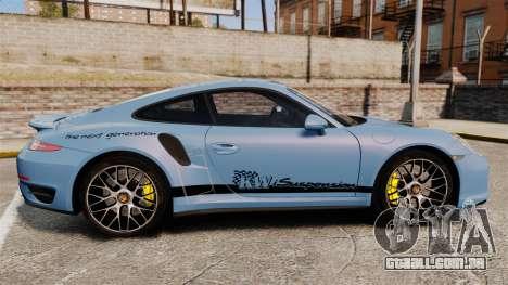 Porsche 911 Turbo 2014 [EPM] KW iSuspension para GTA 4 esquerda vista