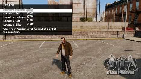 Serviços especiais Merryweather e Lester para GTA 4 por diante tela