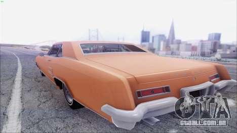 Buick Riviera 1963 para GTA San Andreas traseira esquerda vista