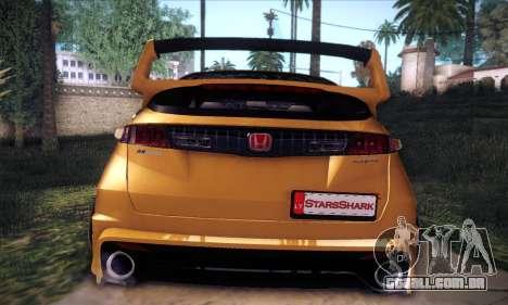 Honda Civic Type R Mugen para GTA San Andreas vista superior
