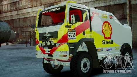MAN TGA Dakar Truck Shell para GTA 4 esquerda vista