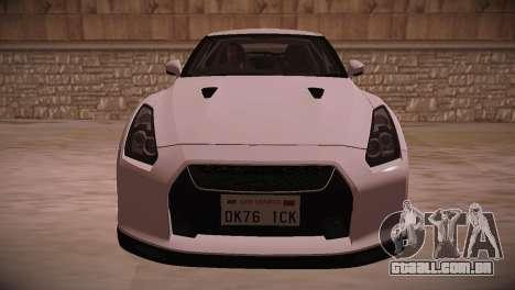 Nissan GT-R SpecV Ultimate Edition para GTA San Andreas esquerda vista