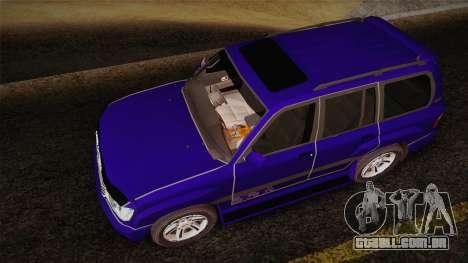 Toyota Land Cruiser 100VX para GTA San Andreas vista traseira